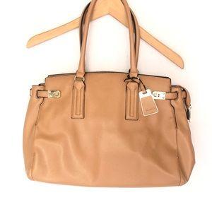 Aldo Large Tote Zip Shoulder Handbag Bag Cream